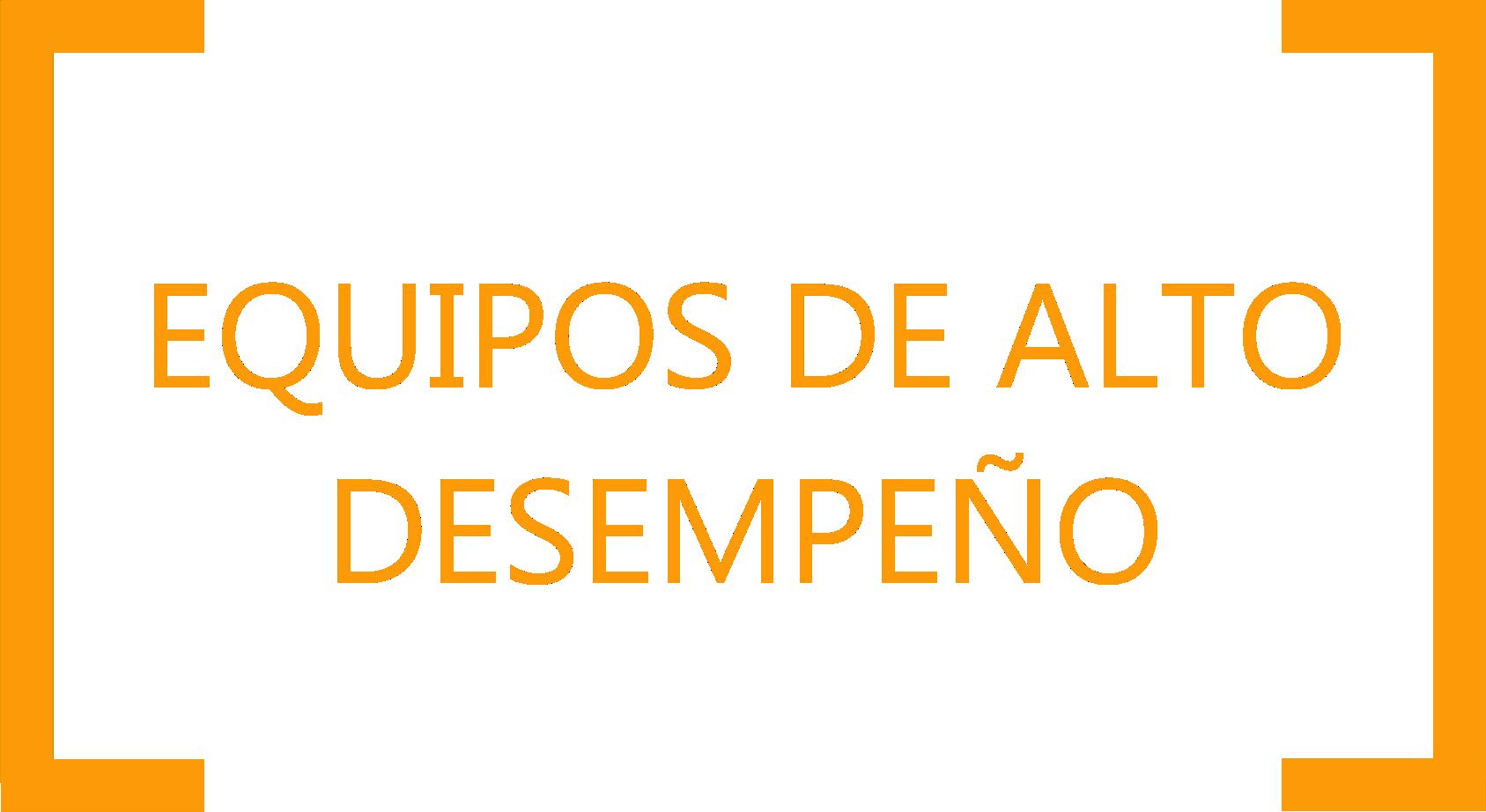 EQUIPOS DE ALTO DESEMPEÑO
